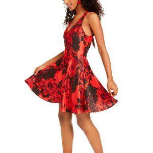 City Studios Womens Dress Juniors Size 13 Red